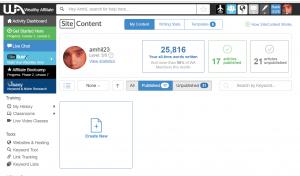 Siterubix site content