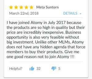 Atomy review