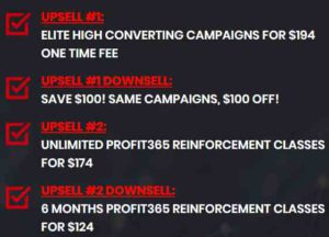 Profit 365 upsells