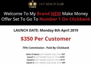 24/7 Wealth Club affiliate commissions