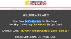 Million dollar replicator affiliate program