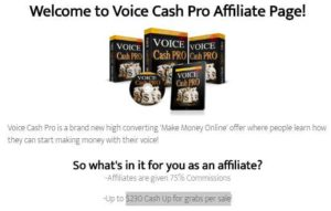 Voice cash pro affiliate program