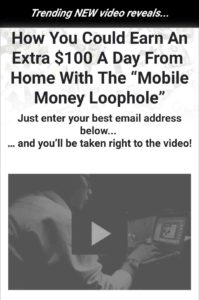 Mobile money loophole landing page