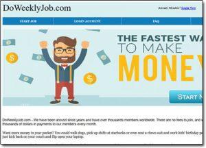 Do Weekly Job landing page