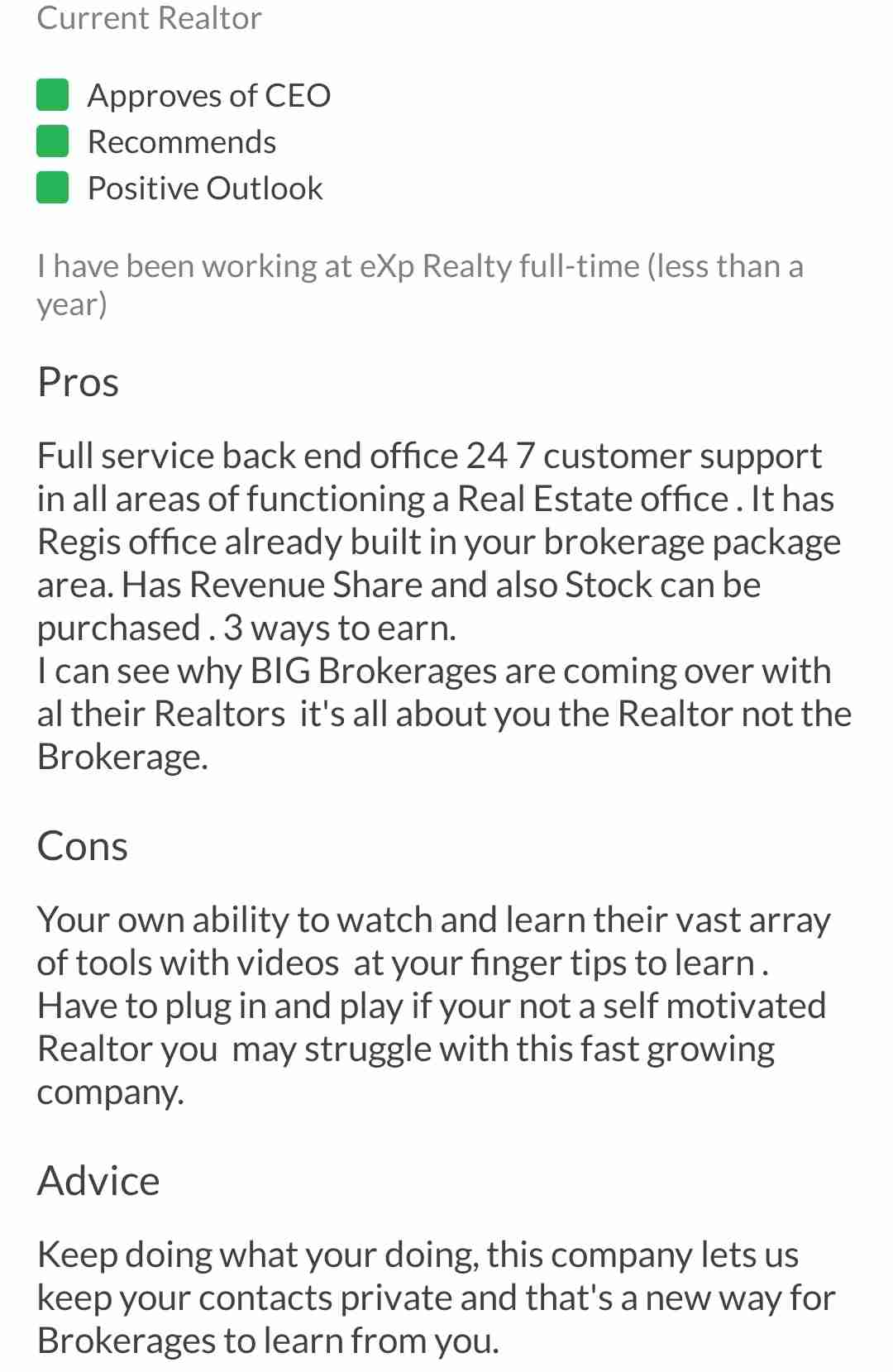 Exp realty good