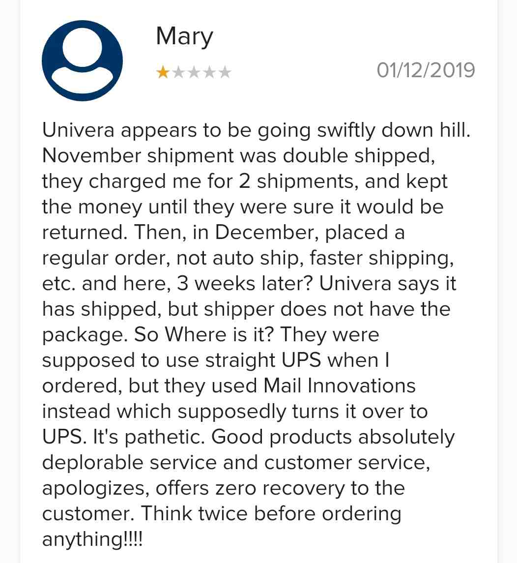 Univera Review