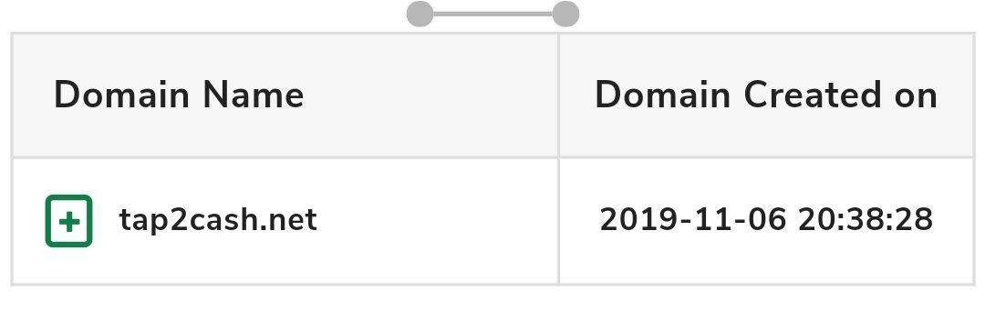 Tap2cash domain age