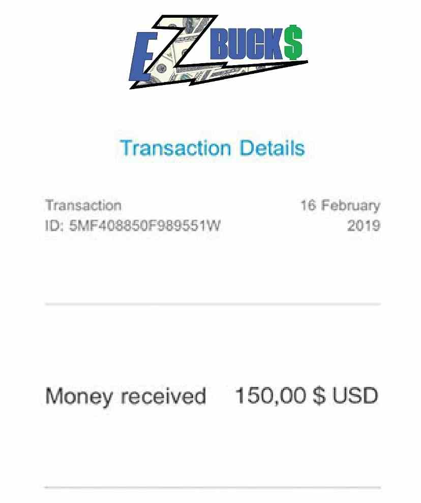 Ezbucks fake payment proof