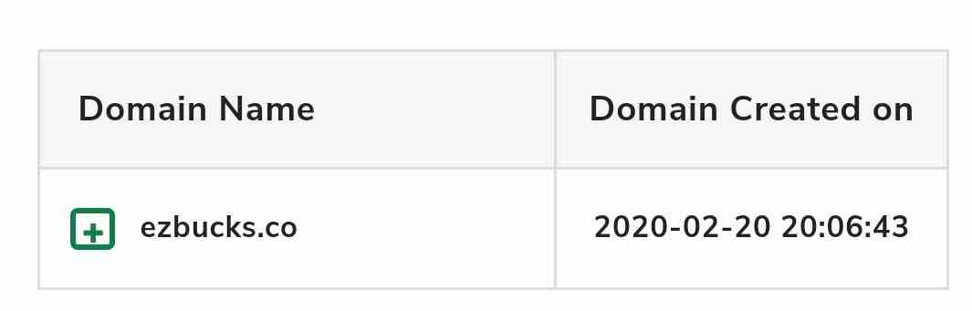 Ezbucks domain age