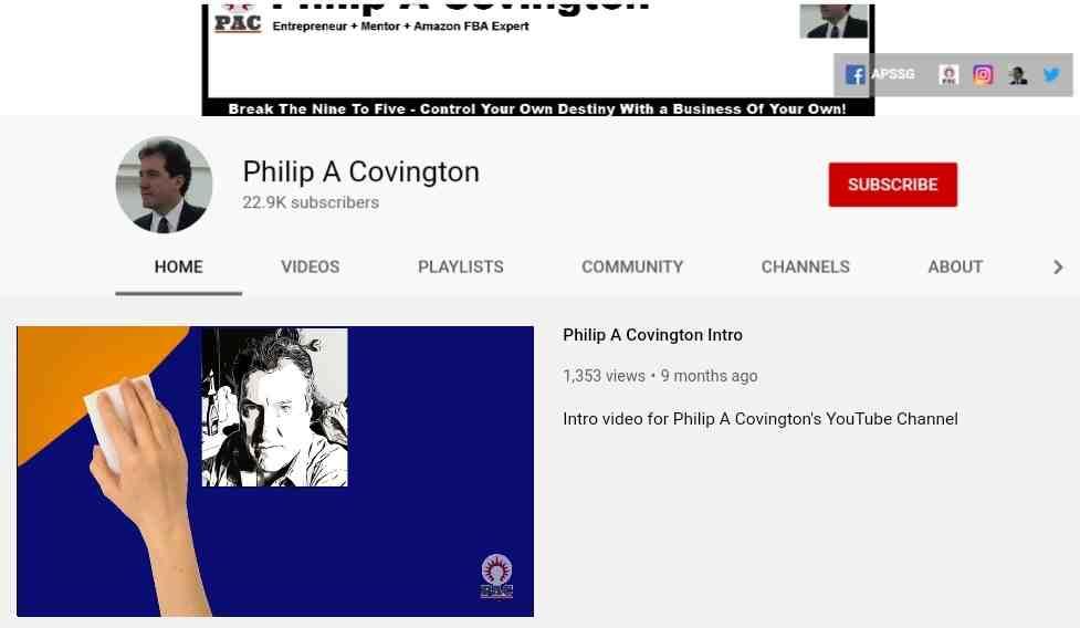 Philip Covington youtube channel