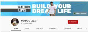 Matthew lepre youtube channel