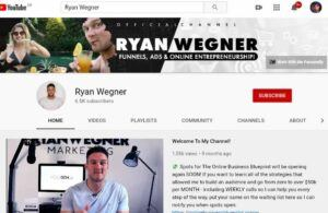 Lead generation blueprint Ryan Wegner's youtube