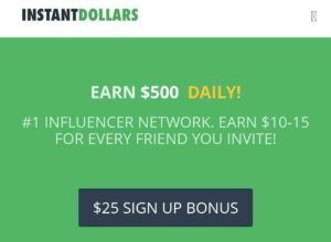 InstantDollars.co  front page