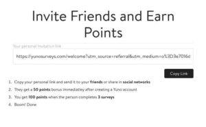 Yuno surveys referral program
