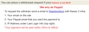 Rapidworkers payment structure